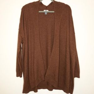 Old Navy Rust Drape Front Long Cardigan Sweater